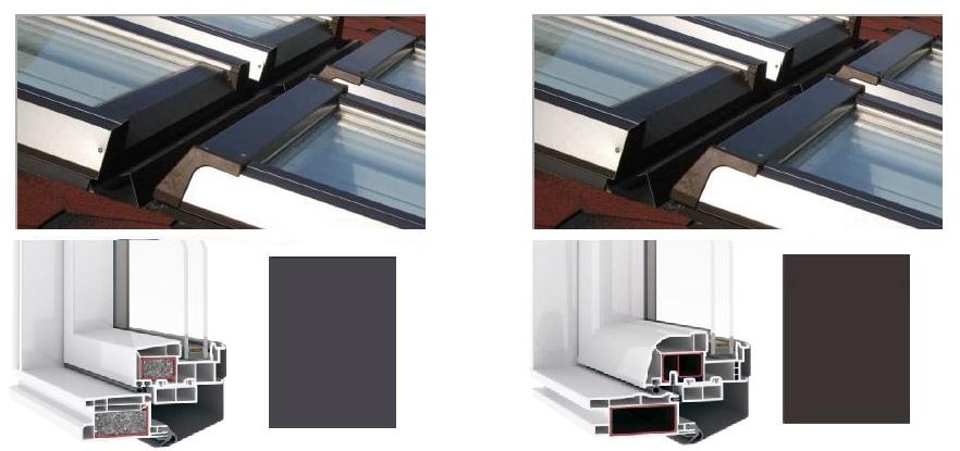 dachfenster kunststoff skylight premium mit eindeckrahmen hoch schwigfenster ebay. Black Bedroom Furniture Sets. Home Design Ideas