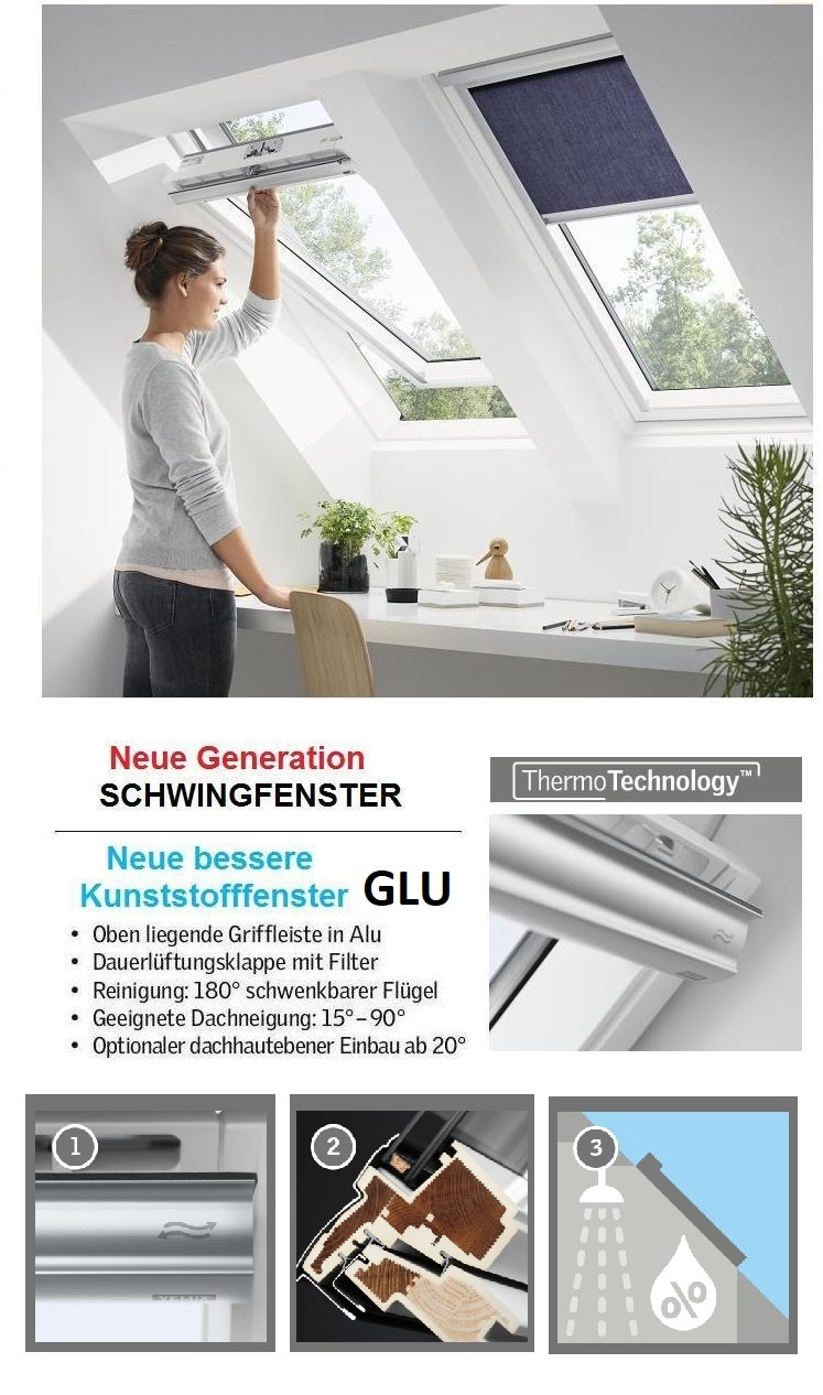 dachfenster aus kunststoff GGU GLU Thermo schwingfenster
