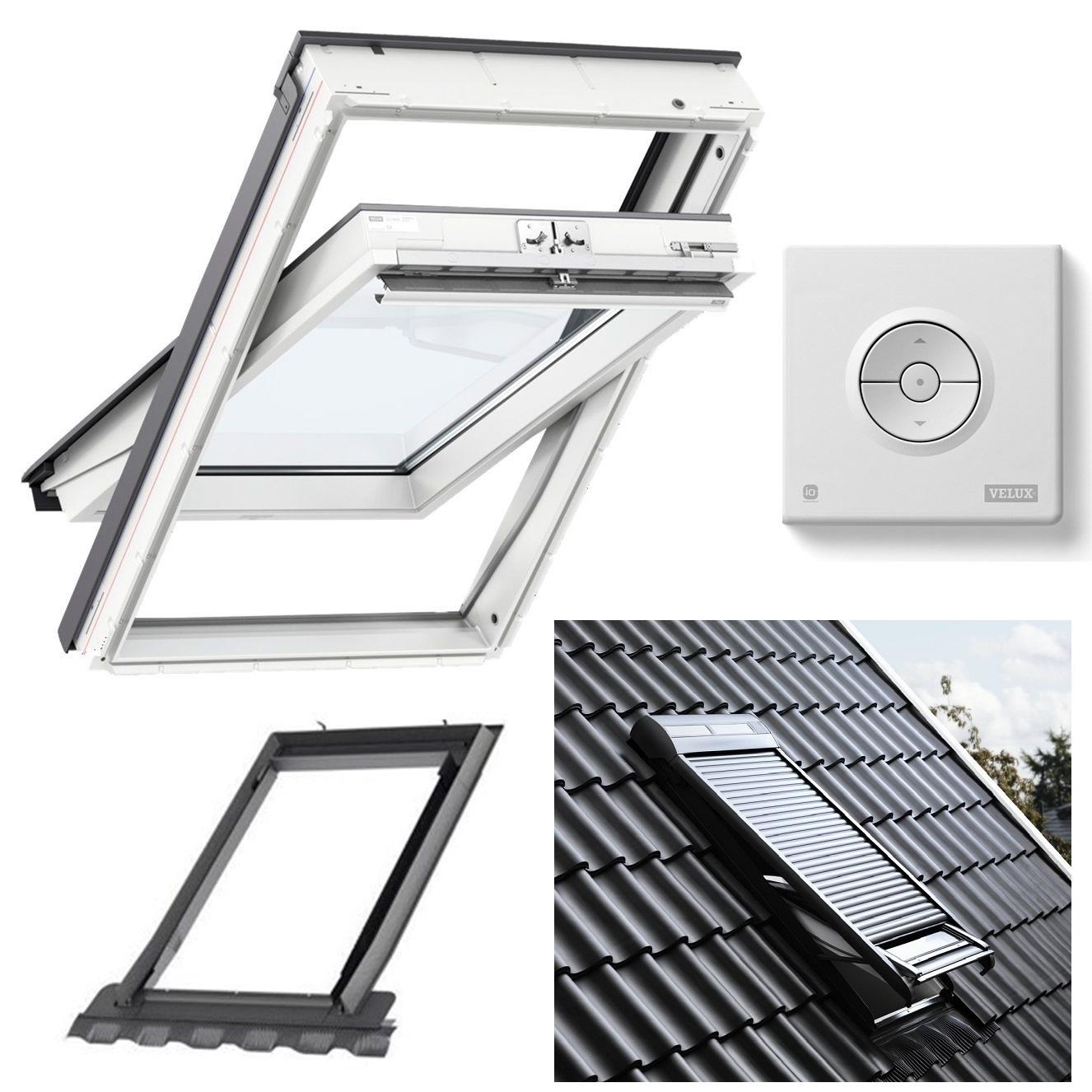 original dachfenster velux kunststoff glu ggu 2 3 fach rollladen eindeckrahmen ebay